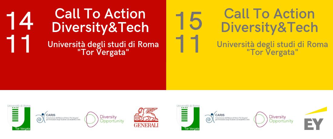 14 e 15 novembre 2018, Call to Action Diversity&Tech