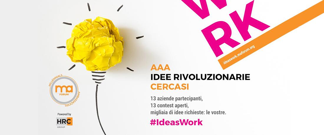Partecipa al contest#IdeasWork