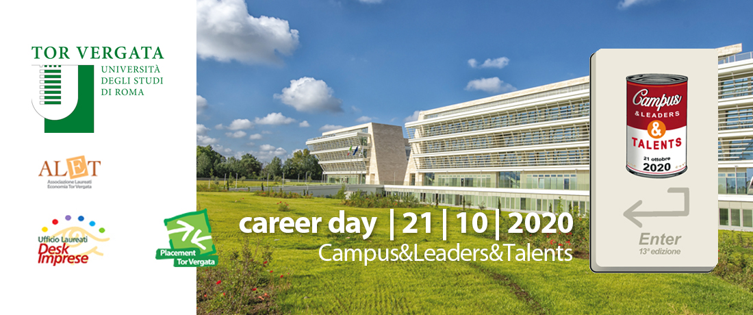 "21 ottobre 2020, Career Day ""Campus&Leaders&Talents"""